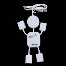 1pcs Multi USB HUB Splitter High Speed 4 Port USB 2.0 Hub Robot Adapter For Camera Printer Game Mouse Car Reader Mp3