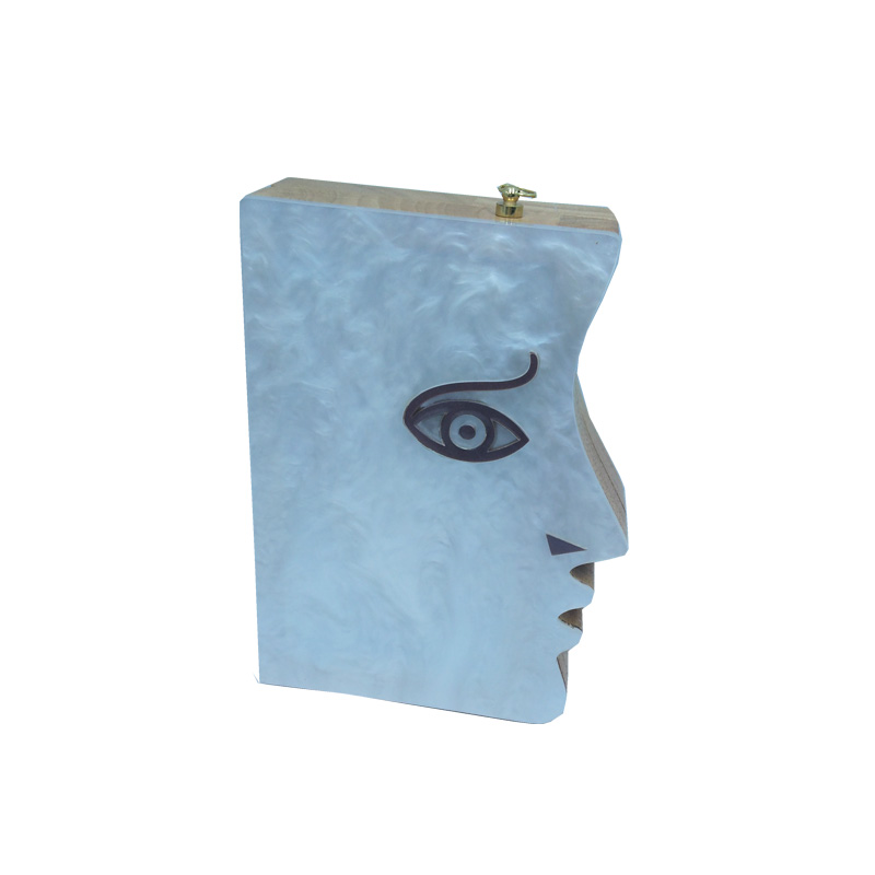 Designer Wooden Book Shaped Acrylic Clutch Bags and Women Clutch Bag <br>