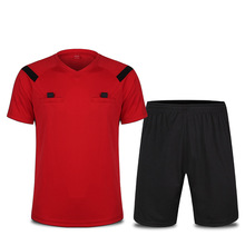 Soccer Kits Tracksuit Referee Uniform Football Short Sleeves Full Set Soccer Uniforms 2017 Football Jerseys Referee Supplies(China)