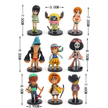 Hot sale 9pcs/set One Piece Luffy Zoro Sanji Chopper Franky Nami Robin PVC Action Figure Collectible Figurines Model Toys