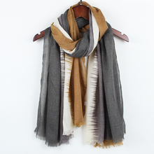 Stripe tassel scarf for women Autumn Winter Woman Long Cotton Scarf Scarves Foulard large shawl lady New fashion TR001