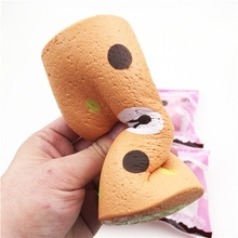 New Squishyfun Swiss Roll Kawaii Bear Sponge Cake Toy Super Slow Rising 15cm With Original Packaging Funny Squeeze Toys(China)