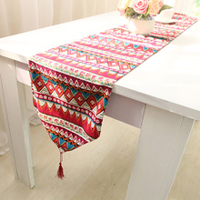 Table Runners For Wedding Party Decoration Red Plaid With Tassel Table Linen Runners For Tea Table Toalha De Mesa De Jantar