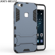 JOEY-BELEZ for Huawei P10 Lite Cover Slim Robot Armor Kickstand Rubber Case For Huawei P10 Lite Case For Huawei Nova Lite Fundas