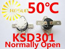 Buy KSD301 50 degrees C 10A 250V KSD-301 Normally Open Temperature Switch Thermostat x 10PCS FREE SHIPPING for $4.26 in AliExpress store