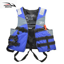 Professional Safety Life Jacket PFD Foam Float Vest For Adult Water Ski Sports Surfing Rafting Boat Canoe Kayak Fishing Sailing(China)