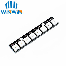 D51 Free Shipping 10pcs Stick 8 channel WS2812 5050 RGB LED lights built-in full color-driven development board(China)