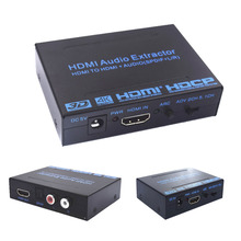 2017 New HDMI Audio Extractor Converter Adapter SPDIF + R/L 4K ARC EDID Setting Audio Extractor 4K*2K with power adapter
