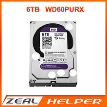 "WD60PURX 6TB WD purple drive HDD 3.5"" surveillance hard drive for CCTV NVR sata 3.5 Surveillance internal hard disk security"