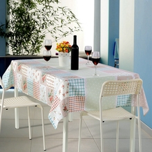 SunnyRain 1-Piece Florals Table Cloth Rectangular Flowers Polyester Table Cover For Dining Tablecloth Table Linen