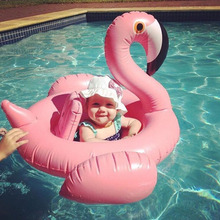 Baby Swimming Ring Dount Seat Inflatable Flamingo Swan Pool Float Baby Summer Water Fun Pool Toy Kids Swimming Pool Accessories(China)