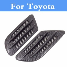 Buy Carbon fiber Shark Gills Shape Intake Grille Wind Net Sticker Toyota Camry Solara Celica Celsior Century Corolla Fielder for $9.50 in AliExpress store