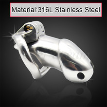 Buy 90mm*33mm 316L Stainless Steel Arc-shaped Male Chastity Device Cock Cage Chastity Belt Penis Rings Sleeve BDSM Sex Toys Men