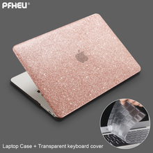 for Macbook Air Pro Retina 11 12 13 15 inch with Touch Bar New, PFHEU Shine Laptop Case + Transparent keyboard cover(China)