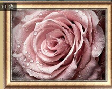 Full diamond 5D Diy Diamond Painting Cross Stitch Pink Rose Diamond Embroidery Flower Vertical Print Rubik's Cube Drill