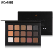 UCANBE 15 Colors Eye Shadow Makeup Palette Shimmer Matte Natural Fashion Glitter Eyeshadow Pigment Cosmetics Make Up Set(China)