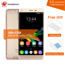 Original OUKITEL K6000 Pro Smartphone MTK6753 Octa Core Android 6.0 3GB RAM 32GB ROM 5.5 Inch Screen 13.0MP 6000mAh Mobile Phone