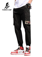 Pioneer Camp Man Pants New Fashion Streetwear Stitching Color Joggers Hip Hop Long Pants Men Elastic Waist Cargo Pants AXX908108(China)