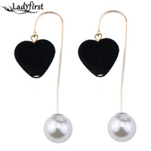 Ladyfirst 2017 Sexy Design Luxury Simulated Pear Earrings Good Quality Cheap Wholesale Bohemian Drop Dangle Earrings Women 4212