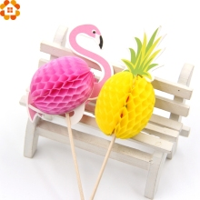 20PCS Flamingo Cupcake Toppers DIY Cakes Topper Picks Pinapple Topper Wedding/Birthday Party Decoration Baby Shower Supplies(China)