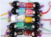 Wholesale - Free shipping LOT 20 Pcs KOKESHI Doll Handbag/ Mobile Phone charms/4.5cm