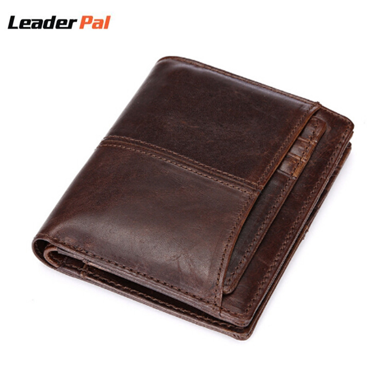 New Designer 2017 Wallet Mens Real Leather Money Pocket Bifold Short Men Purse Male Clutch With Card Holder Coin Purses Wallet<br><br>Aliexpress