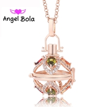 Angel Bola Perfume necklace Pendant  Women Interchangeable Essential Oil Aromatherapy Locket Pendant Jewelry L090 Free Shipping