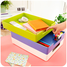 Creative Stationery Students Classified Storage Box Office Desktop File Storage Box Can Be Superimposed Cosmetics