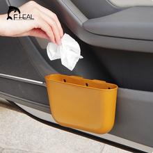 Buy FHEAL 1pc Creative Hanging Car Storage Box Multipurpose Portable Car Trash Box Door Side Seat Back Sundries Organizer Container for $3.81 in AliExpress store