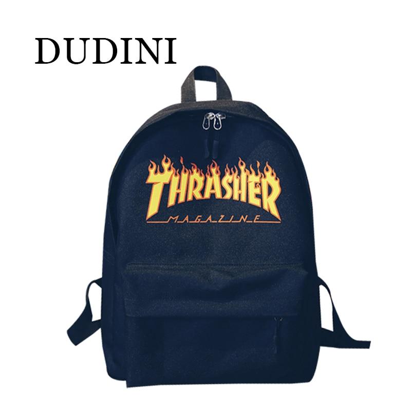 DUDINI Unisex Backpack American Skateboard Oxford Backpack Thrasher Shoulders Bag Fashion Style Men Backpack Mochila<br><br>Aliexpress