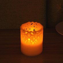 Newest Arrival Electronic Flameless LED Candle Lights Flame Flashing Pillar Candle for Wedding Christmas Decor Room Night Light(China)
