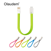 Flat Magnetic Charge Sync USB 2.0 Data Cable For Samsung Huawei HTC Lenovo Sony Android Mobile Phones Noodle Data Lines USBC308