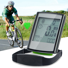 Wireless Bicycle Computer Bike Odometer Speedometer LCD Display 3 in 1 Cycling Computer With Cadence Heart Rate Monitor(China)