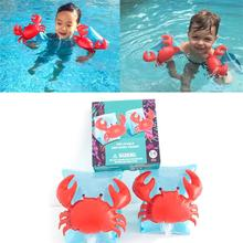 1Pair Protable Kids Children Safty Arm Band Swimming Ring Floating Sleeves(China)