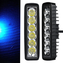 1PC Car Auto 18W 6 LED Light Work Bar Lamp Driving Fog Offroad SUV 4WD Car Boat Truck LED Light(China)