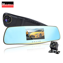 dual lens car camera rearview mirror cars dvr auto  dvrs recorder video registrator dash cam camcorder  full hd1080p night visio