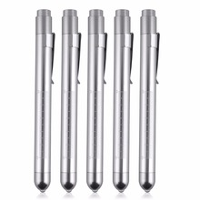 5pcs Medical First Aid LED Pen Light Flashlight Torch Doctor Nurse EMT Emergency(Bhutan)
