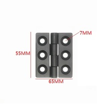 4PCS BLACK 3 Holes Zinc alloy die-casting hinge Closet Cabinet Door Butt Hinge 65mm x 55mm Bearing Hinge