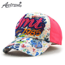 [AETRENDS] 2017 New Fashion Kids Baseball Cap Snapback Bone Cotton Hats for Children 5~7 Years Old Z-5037()