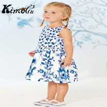 Kimocat next clothes girls dress vestidos Summer cotton short-sleeved girl's lemon dress(China)