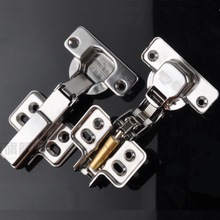 1x Cabinet Cupboard Hinge Undetachable amping Self-closing Hydraulic Concealed Stainless Steel Full Half Overlay Inset Hinge(China)