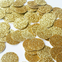 Nicro 100/80/50Pcs Round Gold Glitter Paper Confetti for New Year Party Table Scatter Decor DIY Christmas natal Party Supplies(China)