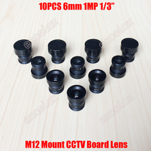 "10PCS/Lot High Quality 6mm Focal Length M12 Mount Fixed Iris MTV CCTV Lens for 1/4"" 1/3"" Video Surveillance Camera Board Module"