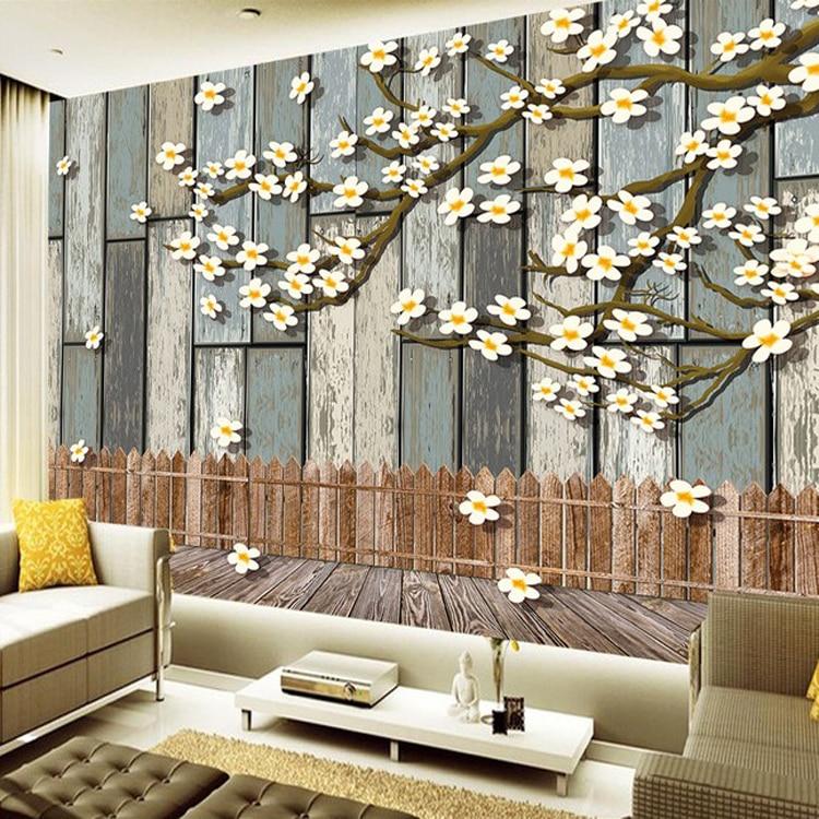 Home wall decoration wood design 3D decorative wallpaper living room bedroom 3d wall murals wallpaper<br>