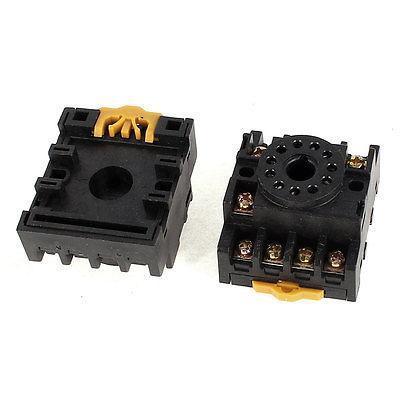 2Pcs PF113A 11P Screw Terminals Time Relay Base Socket 12A 300V<br><br>Aliexpress