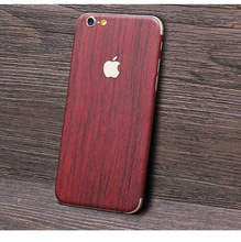For iPhone 7Plus 5.5'' Phone Fitted Case Film For Apple iPhone 7 Plus Cover Wood Grain Full Body Skin Sticker Decal Back Film