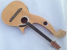 Harp Guitar, Acoustic Electric Double Neck Guitar(China)