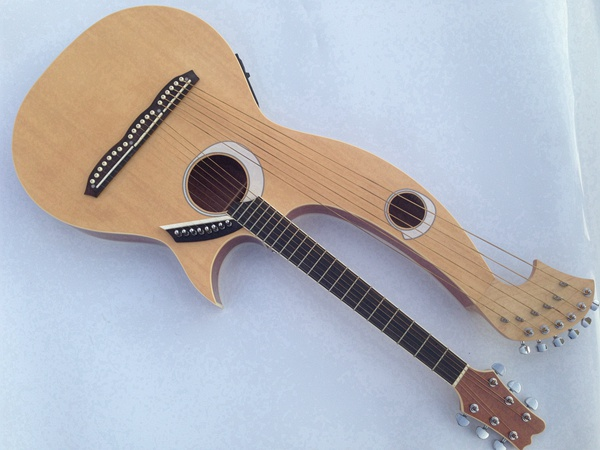 Harp Guitar, Acoustic Electric Double Neck Guitar(China (Mainland))