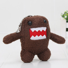 Cute cartoon domo kun domokun mobile phone pendant chain keychain keyring small wedding dolls plush toys(China)