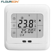 Floureon BYC07.H3 Thermoregulator Touch Screen Heating Thermostat for Warm Floor/Water/Electric Heating System Thermostat